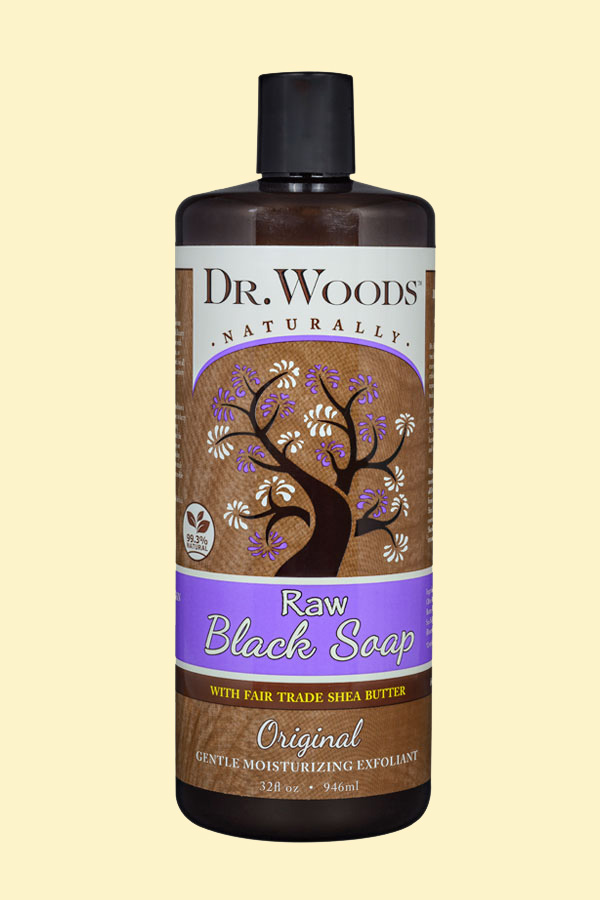 Dr. Woods Raw Black Soap with Fair Trade Shea Butter