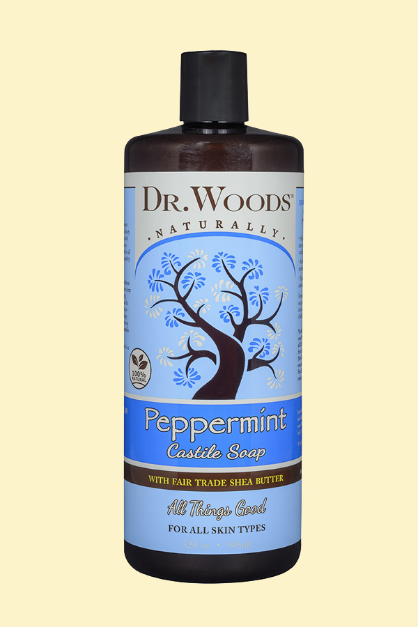 Dr. Woods Peppermint Castile Soap with Fair Trade Shea Butter